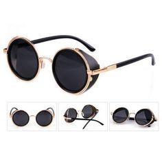 08d8d1b934 Steampunk Round Cyber Goggles Sunglasses