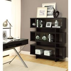 $274.99 @Overstock.com - Cappuccino Hollow-Core Modern Bookcase - Provide a stylish place to store your book collection by adding this hollow-core bookcase to your favorite room. This three-tier bookcase features a unique shape that draws attention, and you can also use it to display collectibles and houseplants.  http://www.overstock.com/Home-Garden/Cappuccino-Hollow-Core-Modern-Bookcase/6803354/product.html?CID=214117 $274.99