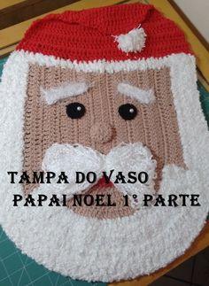 Jogo de banheiro Papai Noel em crochê 1° Parte