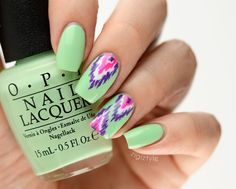 ZigiZtyle: OPI Hawaii ikat Hawaii Nails, Tropical Nail Art, E Design, Ikat, Nailart, Makeup, Nail Design, Make Up, Beauty Makeup