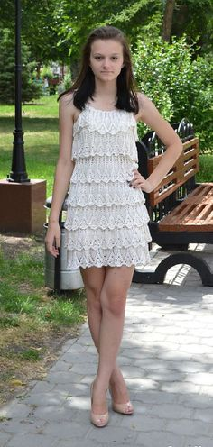 crochet summer dress  made to order by marifu6a on Etsy, $400.00