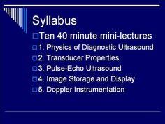 Ultrasound Physics Fundamentals