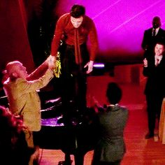 Another example - though I am pretty sure Blaine's down with anything at all that gives him the opportunity to touch Kurt...