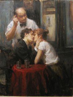 this reminds me of you and I in Egypt at that restaurant in Luxor, with that waiter... lol artist: Ron Hicks