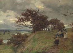 Alfred William Parsons, R.A., P.R.W.S. (1847-1929) After Work - when the chill rain begins at shut of eve in dull November