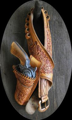 Jordan's gun and holster sets are so lifelike that his art was once kicked off of Ebay for seemingly violating their no weapons policy. After reviewing the worded description All wood carved gun and holster, Ebay staff apologized for the misunderstanding and reinstated the item