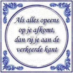 Als alles opeens op je afkomt, dan rij je aan de verkeerde kant  #omdenken #creatiefsolliciteren via: www.vivier.nl