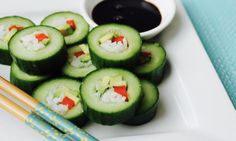 This fresh take on the traditional sushi is so much easier to make. It's the perfect appetizer for summer barbecues and it's easy to pack in lunchboxes. Don't forget the soy!
