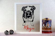 Personalised Dog Portrait Papercut. Magoo... :)