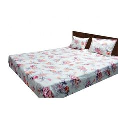 Buy double bed sheet online with 200tc 100% cotton bring smoothness and comfort of satin to your room with eye soothing floral orange print.