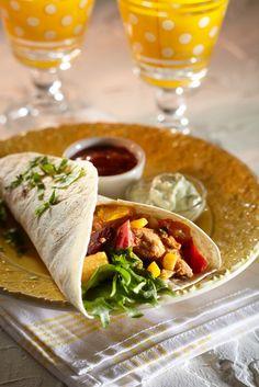 Broileri-kasvisfajitat | K-Ruoka #meksiko