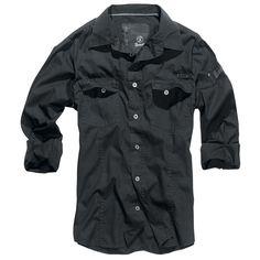 """Brandit Hemd """"Slim Fit Shirt"""" Männer schwarz - jetzt kaufen! EMP"""