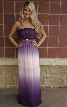 Don't really like purple but this Purple Ombre Maxi is super cute :)