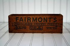 Vintage Wooden Cheese  Box / Wooden Crate by HuntandFound on Etsy,