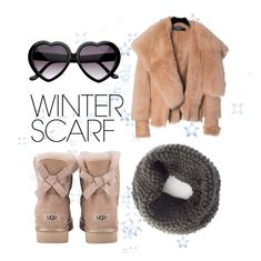 """""""Winter essentials"""" by petra-milas ❤ liked on Polyvore featuring Balmain, UGG and winterscarf"""
