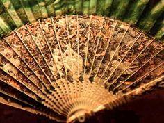 Lace fans were very unusual.