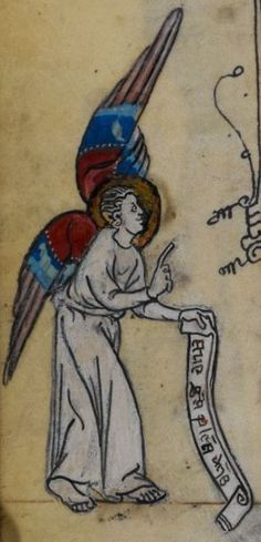 Detail from medieval manuscript, British Library Stowe MS 17 'The Maastricht Hours', f220v
