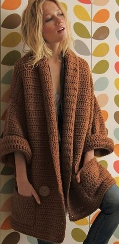 Crochet sweater ♥️LCT-MRS♥️ with diagrams, simple double crochet all the way on heavy yarn.: