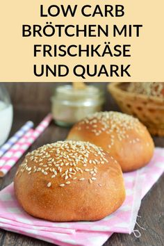 Low Carb Brötchen zum Abnehmen - Gesundes Essen - These low carb rolls with curd cheese and cream cheese are super tasty and perfect for losing weight. Healthy Dessert Recipes, Keto Snacks, Low Carb Recipes, Healthy Snacks, Health Desserts, Quick Recipes, Healthy Eating Tips, Healthy Nutrition, Clean Eating