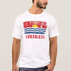 Shop Kiribati Flag T-Shirt created by worldcupflag. Kiribati Flag, Flag Shirt, T Shirt, Flags, Shirt Style, Kids Outfits, Shirt Designs, Mens Tops, Supreme T Shirt