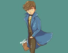 "Check out new work on my @Behance portfolio: ""Newt Scamander"" http://be.net/gallery/48308927/Newt-Scamander"
