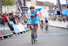 Elation for Carla Boddy - MG Maxifuel, finishing in second place behind team mate Hannah Barnes.