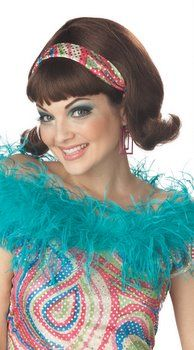 Brown 60's Aquanetta Wig - Candy Apple Costumes (caps & gowns?)