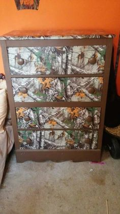 Dresser Best Picture For Hunting Room garage For Your Taste You are looking for something, and it is Army Bedroom, Kids Bedroom, Bedroom Ideas, Camo Furniture, Camo Rooms, Boy Room, Interior Styling, Home Furnishings, Room Decor