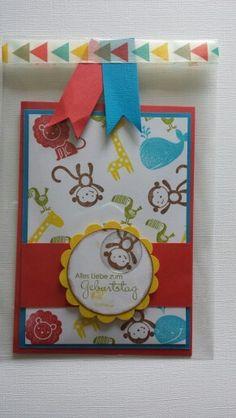 Karte zum 3 Ten Geburtstag   Gesehen  bei pinterest
