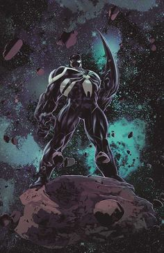 Venom: Space Knight #1 by Mike Deodato Jr and colours by Frank Martin