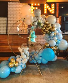 By: Quirky Balloons . Balloon Backdrop, Balloon Garland, Balloon Decorations, Birthday Party Decorations, Balloon Ideas, Christening Balloons, Blue Balloons, Backdrops For Parties, Party Items