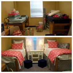 My Ole Miss Martin Hall dorm room. Before and after decoration (2014)