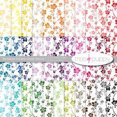 Digital Scrapbook Paper Pack    Rainbow Floral by mooandpuppy  https://www.etsy.com/listing/99222942/digital-scrapbook-paper-pack-rainbow?ref=shop_home_active_14