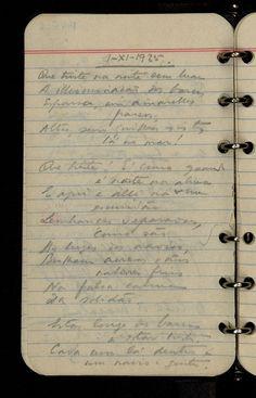 Fernando Pessoa's notebook.