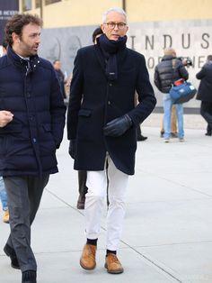GLOBER | ホワイトデニム Brogues, Brogue Shoe, Autumn Fashion, Fall Winter, Winter Jackets, Mens Fashion, Men's Style, Winter Coats, Moda Masculina