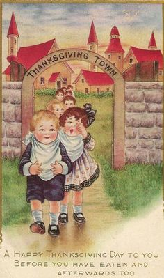 vintage thanksgiving images | vintage: Thanksgiving Town...