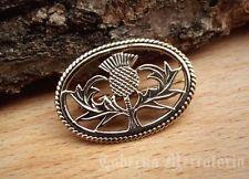 Anstecknadel ''Schottische Distel'' aus Bronze - Brosche, Anstecker, Schottland
