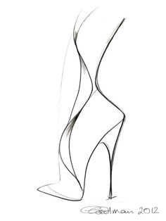 Georgina Goodman Shoe Sketch - would be adorable to hang on the bedroom or closet wall