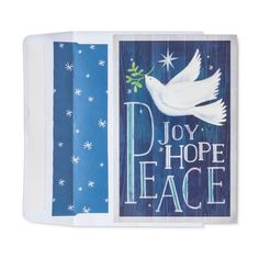 American Greetings 40ct Dove Joy/Hope Peace Holiday Boxed Cards,