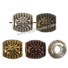 Zinc Alloy Jewelry Beads,Plated,Cadmium And Lead Free,Various Color For Choice,Approx 6*6mm,Hole:Approx 2.5mm,Sold By Bags,No 002104
