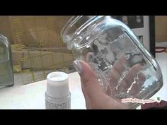DIY Blue Mason Jars. This version is water and food safe, unlike the mod podge version that's going around.