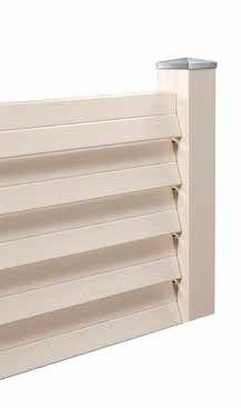 vallas de material compuesto de madera y pvc especiales para vallados de diseño