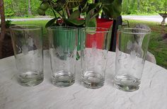 Heritage Princess House 4 Flat Tumblers Drinking Glasses