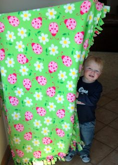 Fringed Fleece Blankets | Pink Polka Dot Creations