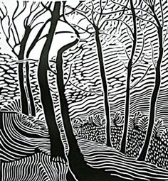 The Edge of the Woods - Peter Colquitt Lino Art, Woodcut Art, Linocut Prints, Art Prints, Linoleum Block Printing, Linoprint, Sharpie Art, Graphic Design Posters, Print Artist
