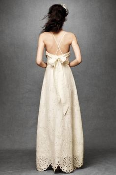 this is probably the type of dress ill have to get [casual], since ill be paying for my own wedding. if i ever get married. however, its beautiful. especially the bottom.