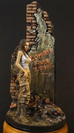 Zombie huntress painted by Milosh Meehan