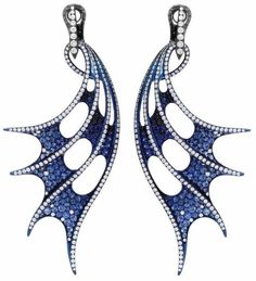 Sapphire and Diamond Earrings by Stephen Webster - JEWELRY LOVE AFFAIR