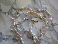 Pearl Opalite Necklace by janislogsdongems on Etsy, $50.00