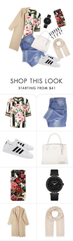 """Airportstyle"" by anni-pro ❤ liked on Polyvore featuring Dolce&Gabbana, Taya, adidas, iDeal of Sweden, Caravelle by Bulova, Mara Hoffman, Barneys New York and airportstyle"